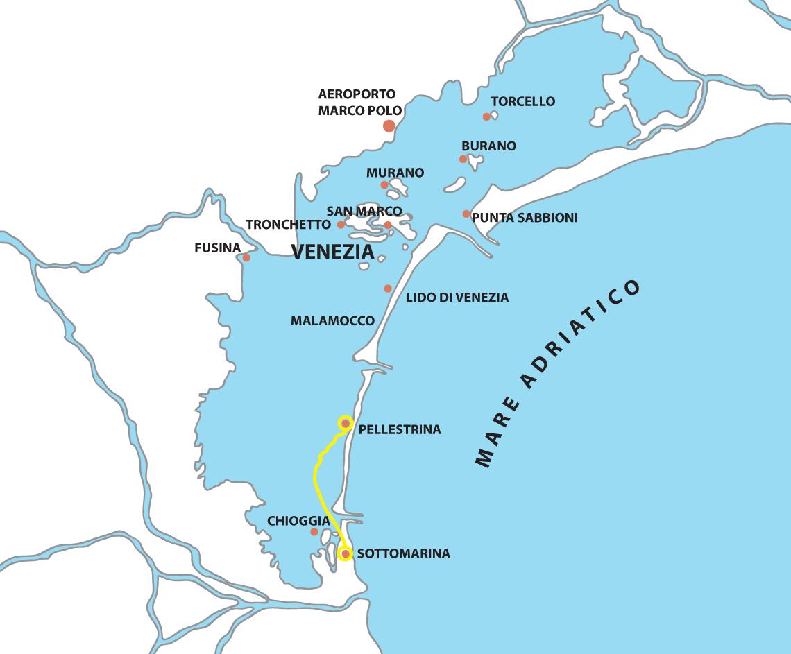 mappa Sottomarina Pellestrina